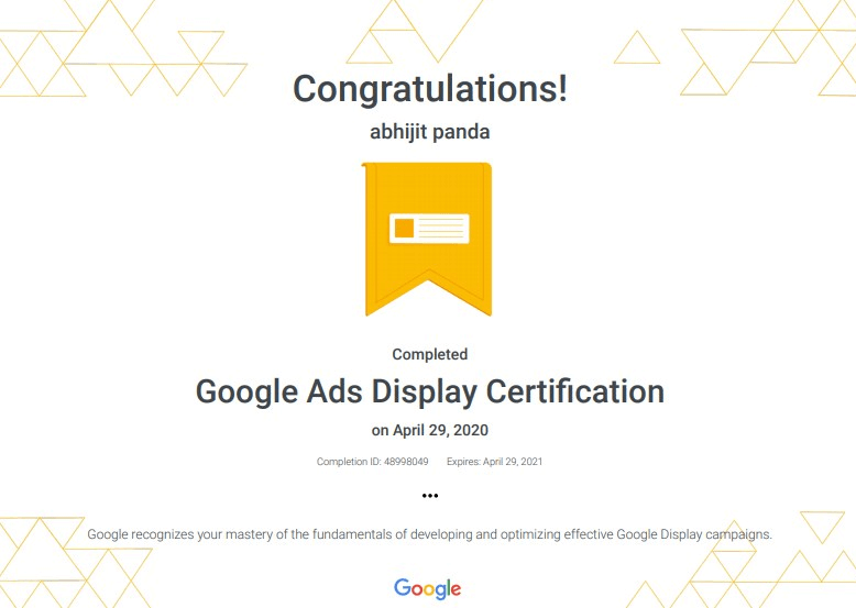 Google Display Ads Certification
