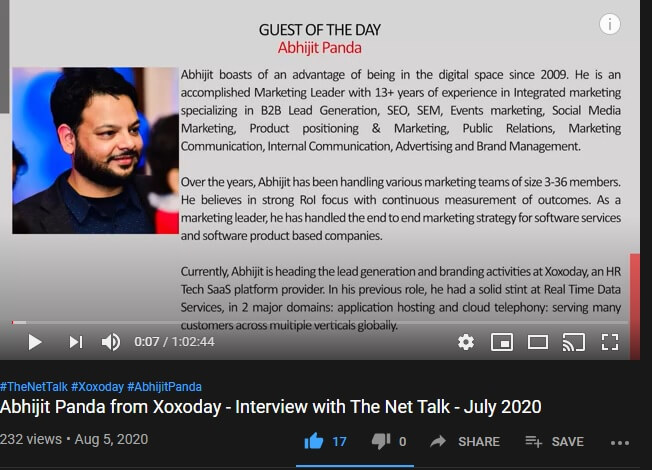 Abhijit Panda Interview with The Net Talks