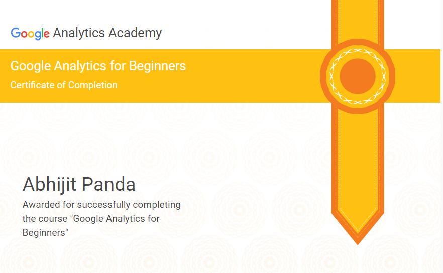 Google Analytics Individual Certification